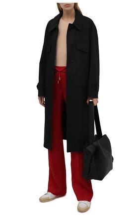 Женские брюки из вискозы DOLCE & GABBANA красного цвета, арт. FTB7NT/GDP69 | Фото 2 (Длина (брюки, джинсы): Удлиненные; Материал внешний: Вискоза; Стили: Спорт-шик; Кросс-КТ: Трикотаж; Женское Кросс-КТ: Брюки-одежда; Силуэт Ж (брюки и джинсы): Расклешенные)