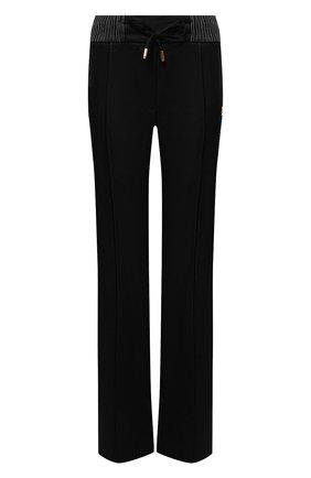 Женские брюки из вискозы DOLCE & GABBANA черного цвета, арт. FTB7NT/GDP69 | Фото 1 (Длина (брюки, джинсы): Удлиненные; Материал внешний: Вискоза; Стили: Спорт-шик; Кросс-КТ: Трикотаж; Женское Кросс-КТ: Брюки-одежда; Силуэт Ж (брюки и джинсы): Расклешенные)