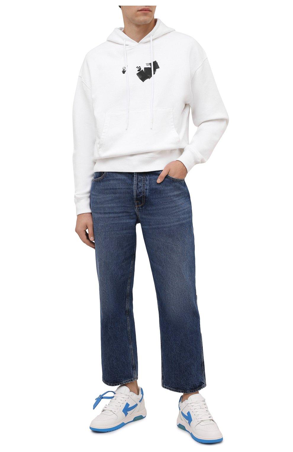 Мужские кожаные кеды out of office OFF-WHITE белого цвета, арт. 0MIA189F21LEA0020145 | Фото 2 (Материал внутренний: Текстиль; Подошва: Массивная)