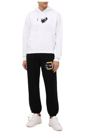 Мужские кожаные кеды out of office OFF-WHITE белого цвета, арт. 0MIA189F21LEA0030125 | Фото 2 (Материал внутренний: Текстиль; Подошва: Массивная)