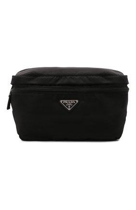 Мужская поясная сумка PRADA черного цвета, арт. 2VL038-2DMG-F0002-OOO | Фото 1 (Материал: Текстиль)