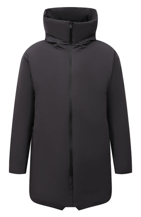 Мужская пуховик KAZUYUKI KUMAGAI темно-серого цвета, арт. AC12-223 | Фото 1 (Материал подклада: Синтетический материал; Материал утеплителя: Пух и перо; Материал внешний: Синтетический материал; Кросс-КТ: Куртка; Мужское Кросс-КТ: пуховик-короткий; Рукава: Длинные; Длина (верхняя одежда): До середины бедра; Стили: Минимализм)
