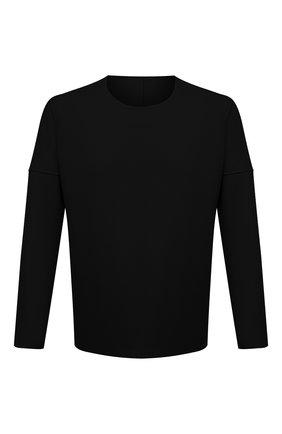 Мужская шерстяной лонгслив KAZUYUKI KUMAGAI черного цвета, арт. AJ12-238 | Фото 1 (Материал внешний: Шерсть; Длина (для топов): Стандартные; Рукава: Длинные; Принт: Без принта; Стили: Минимализм)