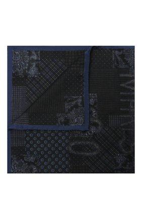 Мужской платок из хлопка и шелка VAN LAACK темно-синего цвета, арт. M-LE0/Z10350 | Фото 1 (Материал: Шелк, Хлопок, Текстиль)