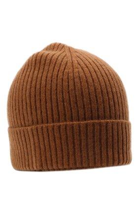 Мужская кашемировая шапка BRIONI коричневого цвета, арт. 04M80L/01K23 | Фото 1 (Материал: Кашемир, Шерсть; Кросс-КТ: Трикотаж)