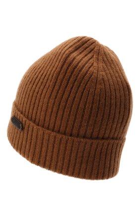 Мужская кашемировая шапка BRIONI коричневого цвета, арт. 04M80L/01K23 | Фото 2 (Материал: Кашемир, Шерсть; Кросс-КТ: Трикотаж)