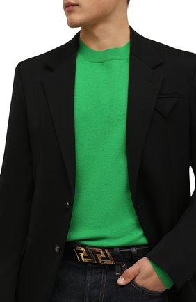 Мужской кожаный ремень VERSACE черного цвета, арт. 1002237/DVTP1 | Фото 2 (Случай: Повседневный)