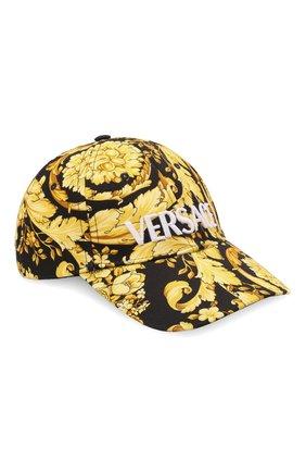 Мужской хлопковая бейсболка VERSACE желтого цвета, арт. 1001590/1A01281 | Фото 1 (Материал: Текстиль, Хлопок)