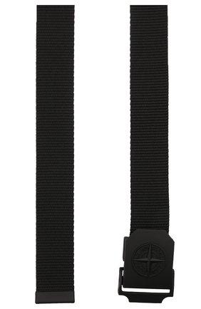 Мужской текстильный ремень STONE ISLAND черного цвета, арт. 751594071   Фото 3 (Материал: Текстиль; Случай: Повседневный)