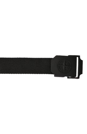 Мужской текстильный ремень STONE ISLAND черного цвета, арт. 751594071   Фото 4 (Материал: Текстиль; Случай: Повседневный)