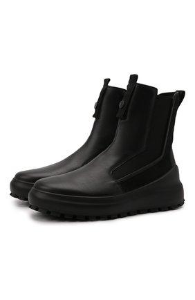 Мужские кожаные сапоги STONE ISLAND черного цвета, арт. 7519S0120 | Фото 1 (Подошва: Массивная; Материал внутренний: Натуральная кожа; Мужское Кросс-КТ: Сапоги-обувь)