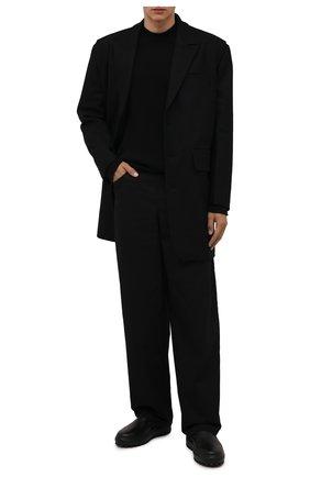 Мужские кожаные сапоги STONE ISLAND черного цвета, арт. 7519S0120 | Фото 2 (Подошва: Массивная; Материал внутренний: Натуральная кожа; Мужское Кросс-КТ: Сапоги-обувь)