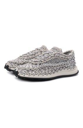 Мужские текстильные кроссовки crochet VALENTINO светло-серого цвета, арт. WY2S0E41/ZXB | Фото 1 (Материал внутренний: Текстиль; Материал внешний: Текстиль; Стили: Гранж; Подошва: Массивная)