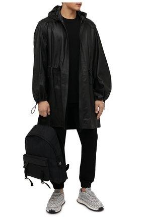 Мужские текстильные кроссовки crochet VALENTINO светло-серого цвета, арт. WY2S0E41/ZXB | Фото 2 (Материал внутренний: Текстиль; Материал внешний: Текстиль; Стили: Гранж; Подошва: Массивная)