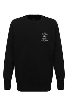 Мужской хлопковый свитшот GIVENCHY черного цвета, арт. BMJ0DL3Y6V | Фото 1 (Длина (для топов): Удлиненные; Рукава: Длинные; Материал внешний: Хлопок; Мужское Кросс-КТ: свитшот-одежда; Принт: С принтом; Стили: Кэжуэл)