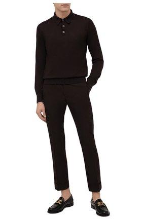 Мужские шерстяные брюки GIVENCHY коричневого цвета, арт. BM50XM13MP | Фото 2 (Длина (брюки, джинсы): Стандартные; Материал внешний: Шерсть; Случай: Повседневный; Стили: Кэжуэл)