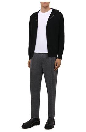 Мужской шерстяной кардиган EMPORIO ARMANI черного цвета, арт. 6K1MXQ/1MHVZ | Фото 2 (Материал внешний: Шерсть; Рукава: Длинные; Длина (для топов): Стандартные; Мужское Кросс-КТ: Толстовка-одежда, Кардиган-одежда; Стили: Спорт-шик)