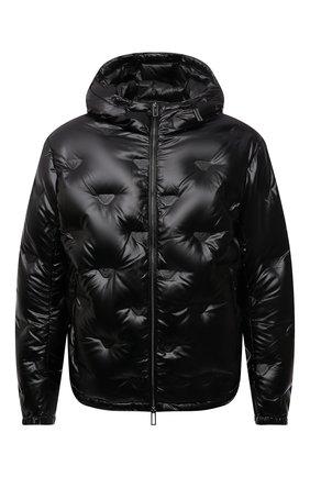 Мужская пуховая куртка EMPORIO ARMANI черного цвета, арт. 6K1B93/1NYWZ | Фото 1 (Материал утеплителя: Пух и перо; Рукава: Длинные; Материал внешний: Синтетический материал; Длина (верхняя одежда): Короткие; Материал подклада: Синтетический материал; Кросс-КТ: Куртка; Мужское Кросс-КТ: пуховик-короткий; Стили: Кэжуэл)