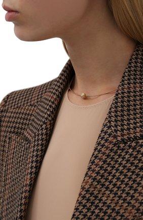 Женское колье BRUNELLO CUCINELLI золотого цвета, арт. MC0W9LA30   Фото 2 (Материал: Серебро)