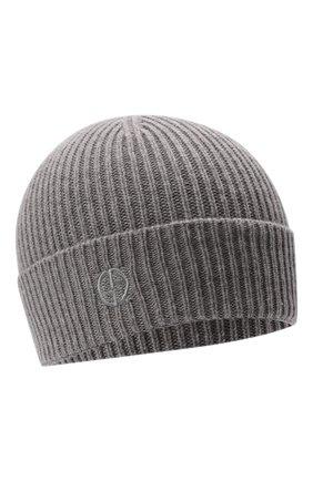 Женская кашемировая шапка GIORGIO ARMANI светло-серого цвета, арт. 797258/1A512 | Фото 1 (Материал: Кашемир, Шерсть)