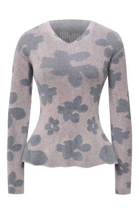 Женский пуловер GIORGIO ARMANI сиреневого цвета, арт. 6KAMA1/AMA2Z | Фото 1 (Материал внешний: Синтетический материал, Вискоза; Длина (для топов): Стандартные; Рукава: Длинные; Женское Кросс-КТ: Пуловер-одежда; Стили: Романтичный)