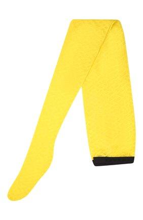 Женские колготки VERSACE желтого цвета, арт. 1001545/1A01647 | Фото 1 (Материал внешний: Синтетический материал)