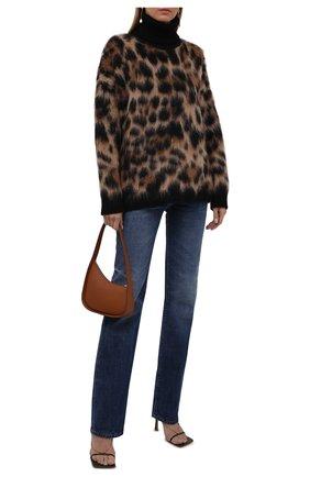 Женский свитер DOLCE & GABBANA леопардового цвета, арт. FXE60T/JCMM2 | Фото 2 (Рукава: Длинные; Длина (для топов): Стандартные; Материал внешний: Шерсть; Женское Кросс-КТ: Свитер-одежда; Стили: Гламурный)