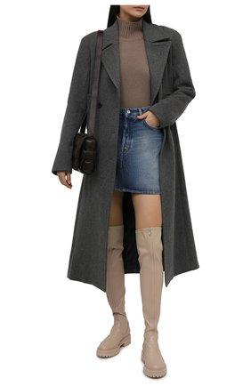 Женские кожаные ботфорты GIANVITO ROSSI кремвого цвета, арт. G80576.20G0M.ENSM0US   Фото 2 (Материал внутренний: Натуральная кожа; Высота голенища: Высокие; Каблук высота: Низкий; Подошва: Платформа; Каблук тип: Устойчивый)