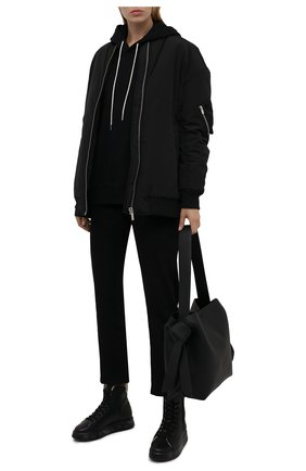 Женские кожаные кеды edith PREMIATA черного цвета, арт. EDITH/VAR5522   Фото 2 (Подошва: Платформа; Материал утеплителя: Натуральный мех; Кросс-КТ: хайтопы)
