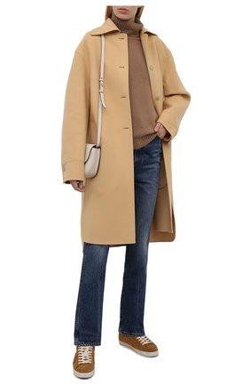 Женские замшевые кеды steven d PREMIATA светло-коричневого цвета, арт. STEVEND/VAR5528   Фото 2 (Подошва: Платформа; Материал утеплителя: Натуральный мех; Материал внешний: Замша)