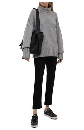 Женские замшевые кеды steven d PREMIATA темно-серого цвета, арт. STEVEND/VAR5537   Фото 2 (Подошва: Платформа; Материал утеплителя: Натуральный мех; Материал внешний: Замша)