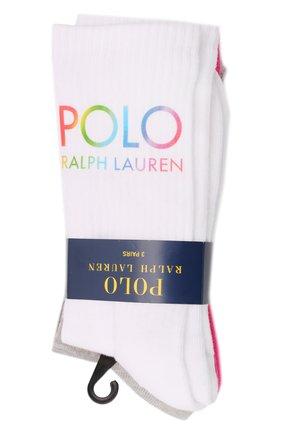 Женские комплект из трех пар носков POLO RALPH LAUREN разноцветного цвета, арт. 455854098 | Фото 1