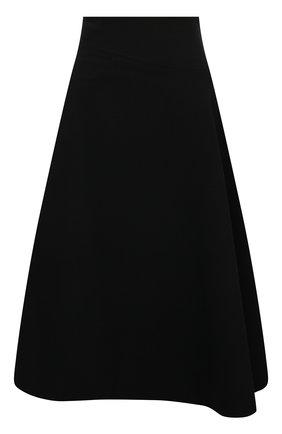 Женская шерстяная юбка LORO PIANA черного цвета, арт. FAL9480 | Фото 1 (Материал внешний: Шерсть; Материал подклада: Шелк; Длина Ж (юбки, платья, шорты): Миди; Женское Кросс-КТ: Юбка-одежда; Стили: Кэжуэл)