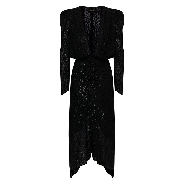 Платье из вискозы и шелка Isabel Marant
