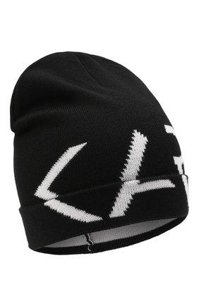 Детского шапка KARL LAGERFELD KIDS черного цвета, арт. Z11035 | Фото 1 (Материал: Синтетический материал, Текстиль)