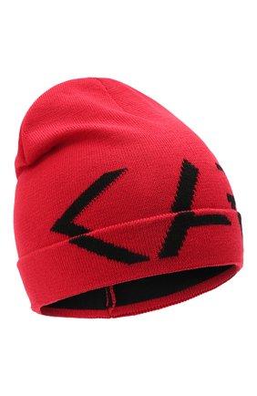 Детского шапка KARL LAGERFELD KIDS красного цвета, арт. Z11035 | Фото 1 (Материал: Синтетический материал, Текстиль)