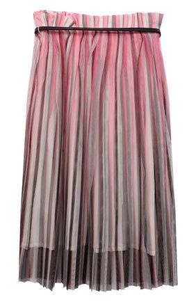Детская плиссированная юбка KARL LAGERFELD KIDS розового цвета, арт. Z13078 | Фото 2 (Материал внешний: Синтетический материал; Случай: Повседневный; Ростовка одежда: 9 лет | 134 см, 12 лет | 152 см, 13 - 15 лет | 158 см, 16 лет | 164 см, 5 лет | 110 см, 7 лет | 122 см)