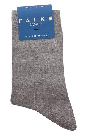 Детские хлопковые носки FALKE серого цвета, арт. 12998. | Фото 1 (Материал: Хлопок, Текстиль)