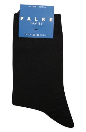 Детские хлопковые носки FALKE черного цвета, арт. 12998. | Фото 1 (Материал: Текстиль, Хлопок)