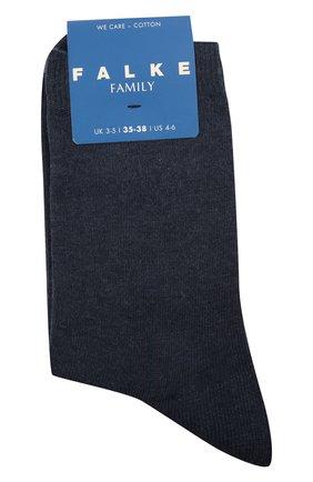 Детские хлопковые носки FALKE синего цвета, арт. 12998. | Фото 1 (Материал: Хлопок, Текстиль)