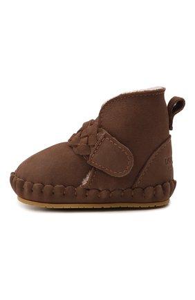 Детские кожаные ботинки DONSJE AMSTERDAM коричневого цвета, арт. 1034200-NL148   Фото 2