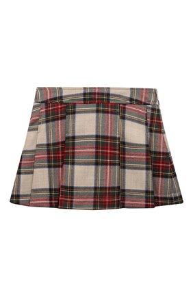 Детская шерстяная юбка DAL LAGO разноцветного цвета, арт. R202B/9105/4-6   Фото 1 (Материал подклада: Вискоза, Синтетический материал; Материал внешний: Шерсть; Случай: Повседневный; Ростовка одежда: 6 лет   116 см)