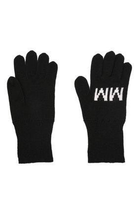 Детские шерстяные перчатки MM6 черного цвета, арт. M60068-MM029   Фото 2 (Материал: Синтетический материал, Шерсть, Текстиль)