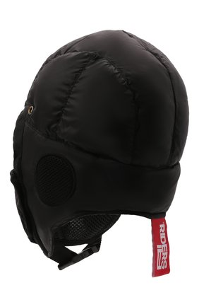Детского пуховая шапка-ушанка AI RIDERS KIDS черного цвета, арт. AIW1/LK528B/TKJ8 | Фото 2 (Материал: Текстиль, Синтетический материал)