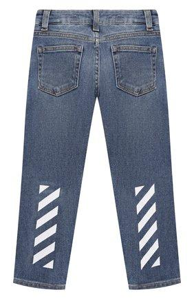 Детские джинсы OFF-WHITE голубого цвета, арт. 0BYA002F21DEN002   Фото 2 (Материал внешний: Хлопок; Ростовка одежда: 10 - 11 лет   140 - 146см, 12 лет   152 см, 4 года   104 см, 6 лет   116 см, 8 лет   128 см)