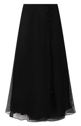 Женская шелковая юбка RALPH LAUREN черного цвета, арт. 290845546 | Фото 1 (Материал подклада: Шелк; Материал внешний: Шелк; Длина Ж (юбки, платья, шорты): Миди; Женское Кросс-КТ: Юбка-одежда; Стили: Романтичный)