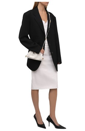 Женские кожаные туфли knife BALENCIAGA черного цвета, арт. 572879/WBCI0 | Фото 2 (Материал внутренний: Натуральная кожа; Каблук тип: Шпилька; Каблук высота: Высокий; Подошва: Плоская)