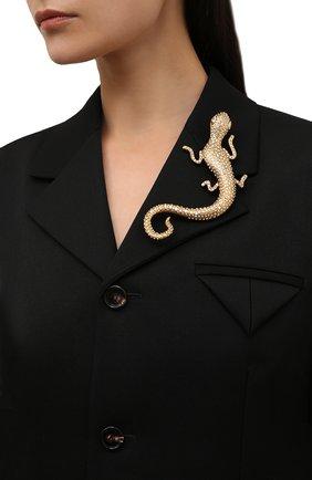 Женская брошь RALPH LAUREN золотого цвета, арт. 434851473 | Фото 2 (Материал: Металл)