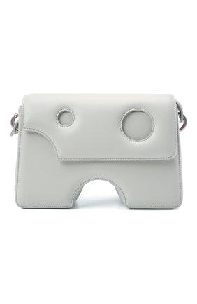 Женская сумка burrow OFF-WHITE светло-зеленого цвета, арт. 0WNN026F21LEA001 | Фото 1 (Ремень/цепочка: На ремешке; Материал: Натуральная кожа; Размер: medium; Сумки-технические: Сумки через плечо)