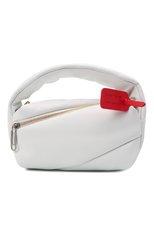 Женская сумка pump pouch OFF-WHITE белого цвета, арт. 0WNP007F21LEA001 | Фото 1 (Сумки-технические: Сумки top-handle, Сумки через плечо; Материал: Натуральная кожа; Размер: small; Ремень/цепочка: На ремешке)